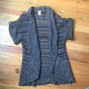 3/$15 Mudd open knit cardigan